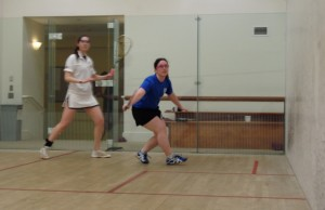 Sarah Odell (in blue) practices for Maccabi Games in NYC