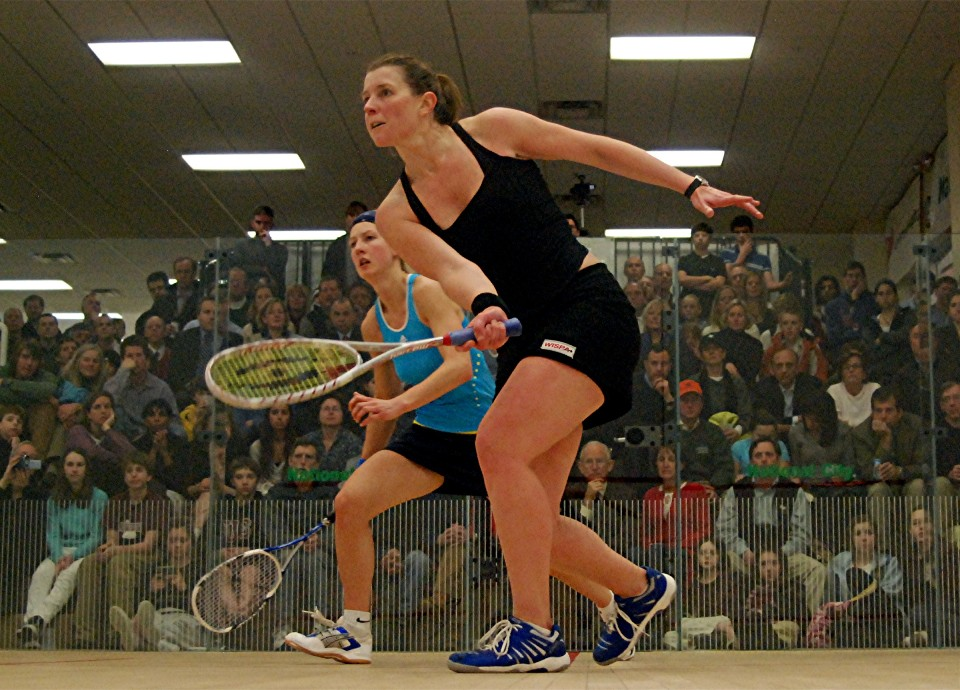 Granger bests Alison Waters in the finals of the Burning River Classic in Cleveland, Feb. 2009
