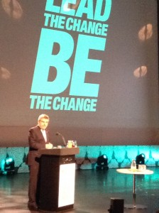 International Olympic Committee head Bach at the opening of the World Conference on Women in Sport in Helsinki yesterday